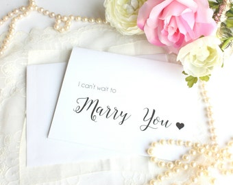 Groom Wedding Card, I Can't Wait to Marry You - Wedding Day Groom Gift Card