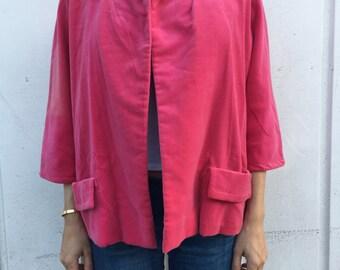Pink Velvet 1950s Jacket
