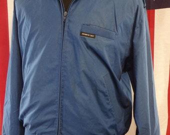 80's Blue Members Only Bomber Racer Medium 44 jacket