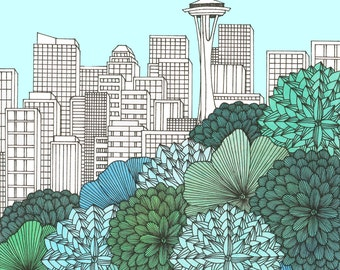Spring In Seattle Print