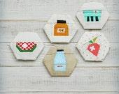 Homegrown favorites - a paper piecing hexagon pattern