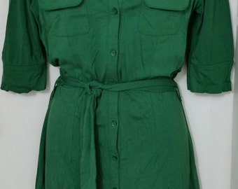 Green Shirt dress size: 6