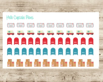 Mail Delivery/ Snail Mail Planner Stickers