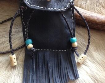 Leather medicine bag rituals, Celtic medicine pouch