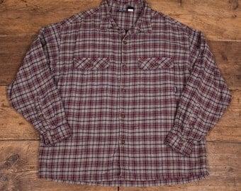 "Mens Vintage 1990s Patagonia Cotton Check Shirt Size Medium/Large 40-42"" HW71"