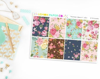 Full Boxes // Vintage Beauty  (Planner Stickers for Erin Condren Vertical and MAMBI The Happy Planner)