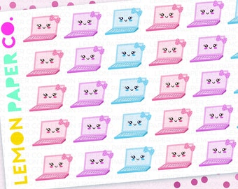 Laptop // Kawaii Planner Stickers
