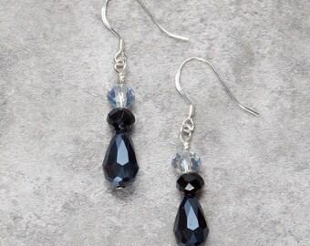 Blue Teardrop Earrings (002)
