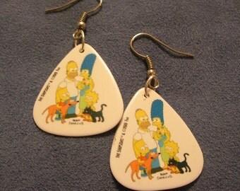The Simpsons Guitar Pick Earrings