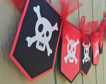 Pirate Happy Birthday Glitter Banner