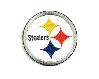 "Pittsburgh Steelers * 3.5"" inch * Embroidered * Iron / Sew on * Applique / Patch * FREE SHIPPING *"