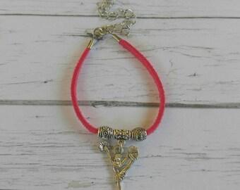 Cheer Bracelet// Team Colors// Cheer Mom// Cheer Coach// Cheerleader Gift// Custom Sports Bracelet for Girls// Choose Color & Sports Charm