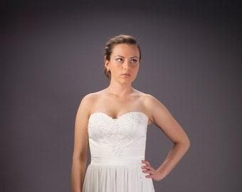 Corset wedding dress, Lace wedding dress, crochet wedding dress, Ivory dress,