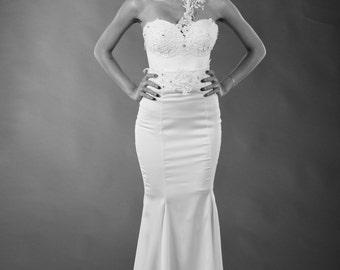 Wedding dress, Lace wedding dress, Bridal dress, Bridal corset