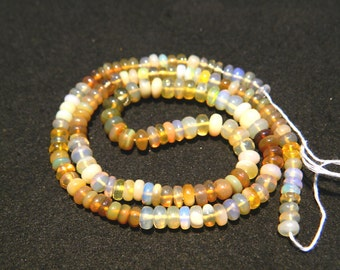17 Inches Ethiopian Opal Beads,Welo Opal, Opal Plain Rondelles, 5mm To 6mm Each Not Enhanced