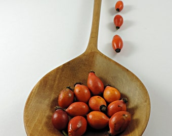 Nice wooden spoon hand carved pear wood