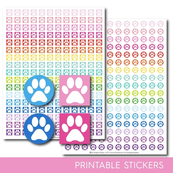 Dog stickers Dog planner stickers Dog printable stickers