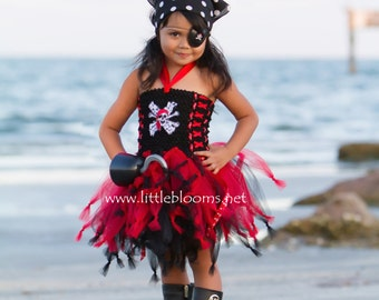 Girls Pirate Costume, Pirate Halloween Costume, Pirate Costume, Toddler Pirate Tutu, Pirate Halloween Tutu, Pirate Birthday Dress