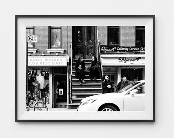 Photographic Print - Manhattan Coffee Photo Print, New York Photo Art, Photo Print, Wall Art, Framed Photo Print, Black and white, New York