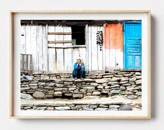 Nepal Photo Print - Nanu Nepal, Photographic  Art, Wall Art, Framed Photography Print, Photographic Print, Nepal, Street Photography, Photo