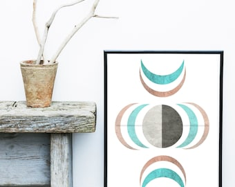 Geometric Print, Scandinavian Art, Abstract Art Print, Geometric Wall art,  Giclee print, Poster, Wall Decor