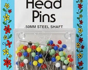 Collins Glass Head Pins - Multicolor