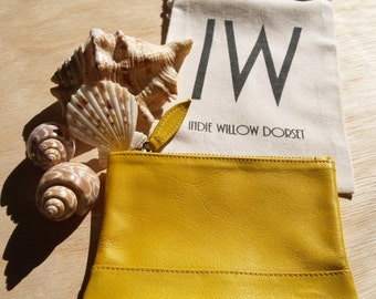 Leather Coin Purse in Yetminster Yellow