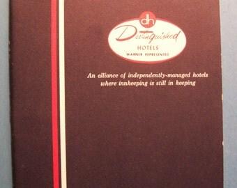 Vintage DISTINGUISHED HOTELS WARNER Represented 20 Distinguished Hotels Book