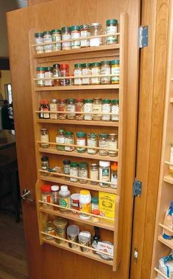 door mounted wood spice rack by woodcraftersmissouri on etsy