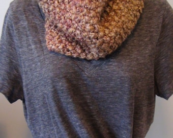 You're Making Me Blush Cowl, Circle Scarf, Women's Scarf, Knitted Scarf, Warm Scarf, Handmade