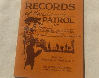 Vintage Boy Scouts of America Records book