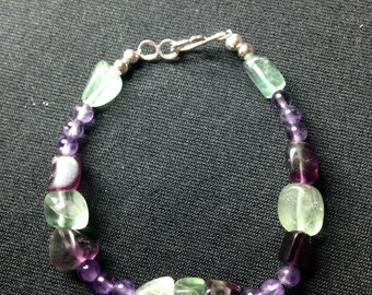 Fluorite and amethyst