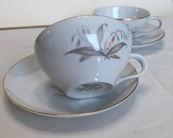 Vintage 1960s Teacups set