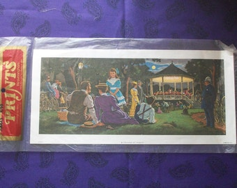 Concert in the Park decoupage print