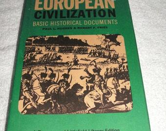European Civilization; Vintage Hardcover 1965 Print