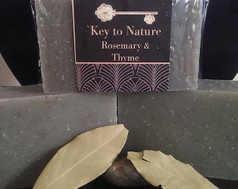 Organic Herbal Bar Soap Rosemary & Thyme 4.2oz Vegan Free Shipping!