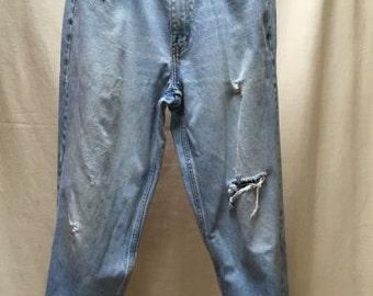 """Vintage CALVIN KLEIN Distressed Destroyed Men or Boyfriend Women's Jeans SZ 34 35""""x 29"""""""