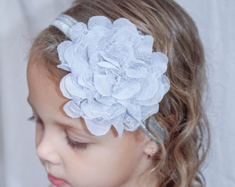 Grey Girly Hair Rose, Birthdays, Parties, fits all sizes