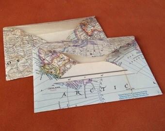 "Vintage Map Envelopes (6"" x 4.5"")"