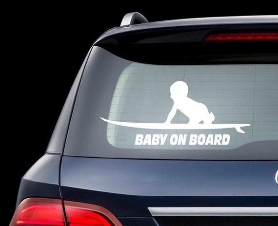 Surfboard Baby On Board Car Decal Baby On Board Surf Sticker
