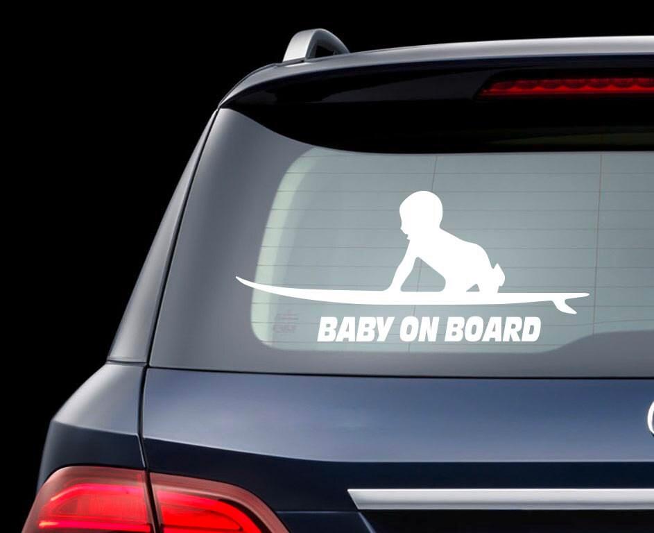 planche de surf b b bord de la voiture autocollant b b. Black Bedroom Furniture Sets. Home Design Ideas
