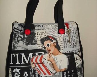pin-up girl vintage handbag