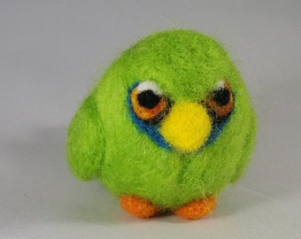 Needle Felted Parrot Miniature