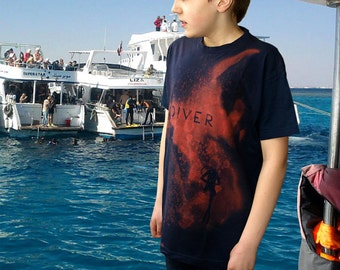 SCUBA DIVING t-shirt |DIVER t-shirt |Red sea diver |Cave diver |T-shirt with scuba diver |Sea |Scuba diver gift |Buceador |Taucher t-shirt