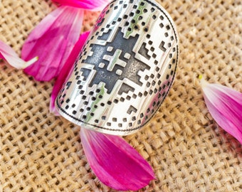 Ring model #9, ukrainian embroidery ring, jewelry ukraine, ukrainian gift for a women, ukrainian art