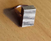Funky-Chunky Wooden Ring, Reclaimed Wood Ring, Women's wood ring, Custom wood ring, Bohemian rings and Hipster jewellery, Unisex rings