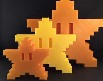 Mario Star Tree Topper 3D Printed
