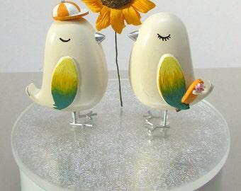 Love Bird Wedding Cake Topper - Summer Theme