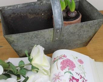 Vintage Galvanized Metal Garden Trug/Container/Metal Trug/Garden/Gardening/ SALE
