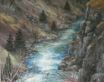 "Along the Ochocos  Original oil painting 15"" x 20"" x 1 1/2""  on wood panel"